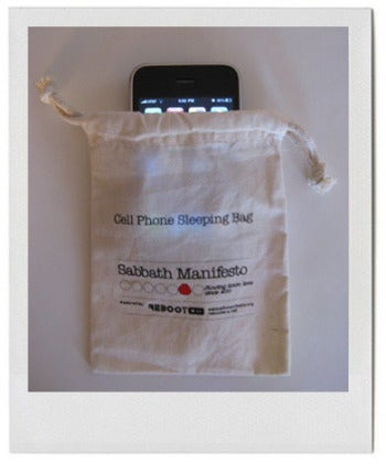 Put your phone to bed in a cell phone sleeping bag.