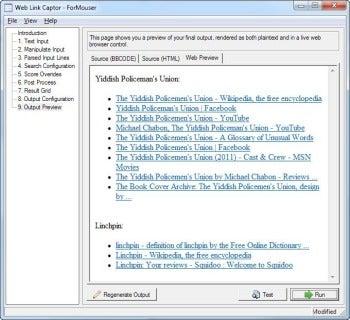 Web Link Captor screenshot