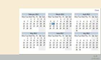 Zbar screenshot (calendar)