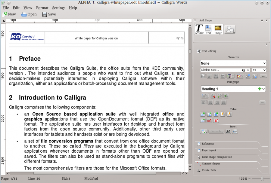 Try Calligra 2.4 for a New Mic...