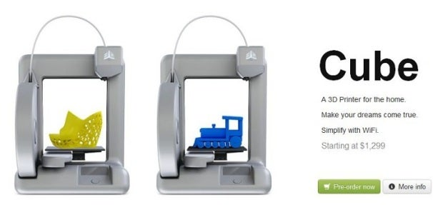 Cube 3d A 3d Printer For The Home Pcworld