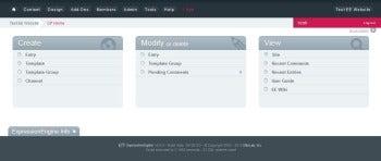 ExpressionEngine control panel screenshot