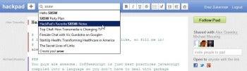 Hackpad search screenshot