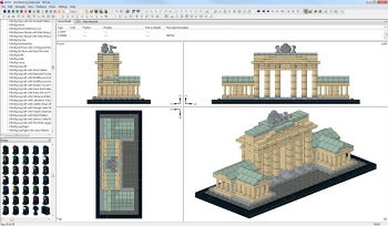 LDraw Brandenburg Gate screenshot
