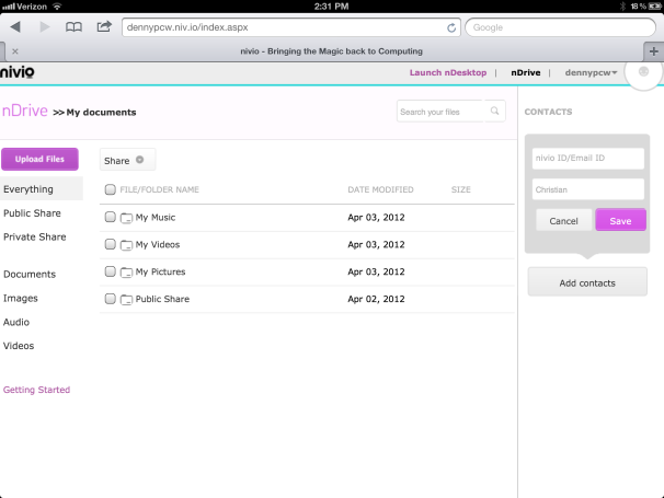 First Look: Nivio Cloud Software Service is Promising, But Overly Complicated