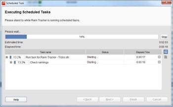 Rank Tracker dialog box screenshot