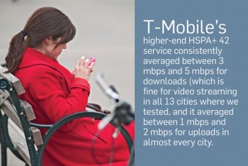 Wireless 3G and 4G service testing: T-Mobile