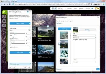 Wix image insertion screenshot