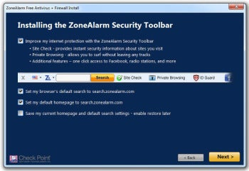 ZoneAlarm Free Antivirus + Firewall installation screenshot