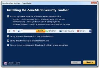 ZoneAlarm Free Antivirus + Firewall installation screenshot
