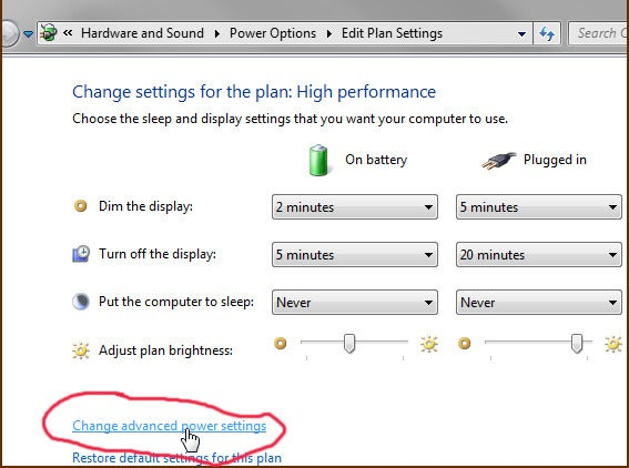 how to stop pc from sleeping windows 7