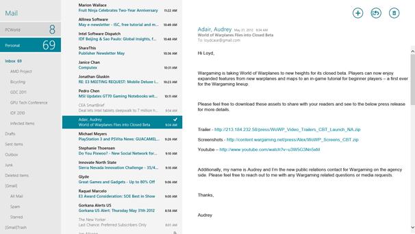 Windows 8: Metro Mail