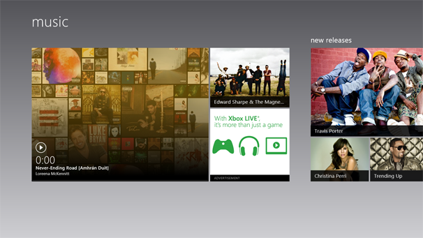 Windows 8: Music app