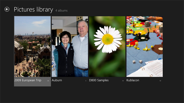 Windows 8: Photo app--Picture Library