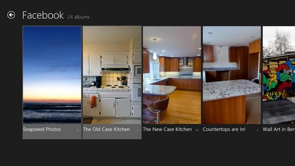 Windows 8: Photo app--social media integration