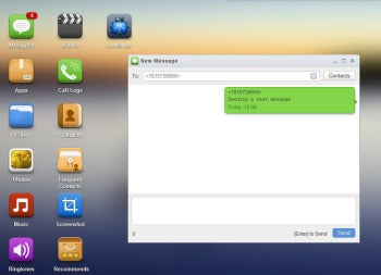 AirDroid Web interface screenshot