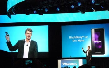 RIM CEO Thorsten Heins Unveiling the BlackBerry 10 Dev Alpha Device at BlackBerry World