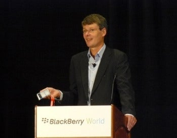 RIM CEO Thorsten Heins at BlackBerry World 2012 Press Session