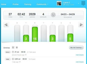 dailymile screenshot