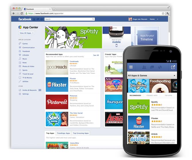 facebook app center to offer mobile app promotion paid app option pcworld. Black Bedroom Furniture Sets. Home Design Ideas