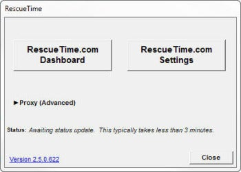 RescueTime desktop client screenshot