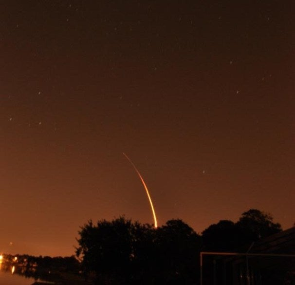 Launch of Falcon 9/Dragon to ISS. [Credit: SpaceX]