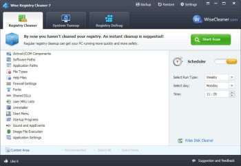 Wise Registry Cleaner 7 screenshot