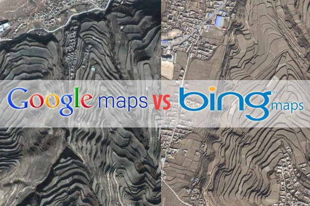 microsoft has set its sights on google maps adding more than 165 terabytes of new satellite imagery to bing maps this is the biggest ever data release for