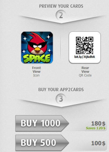 App2Card preview screenshot