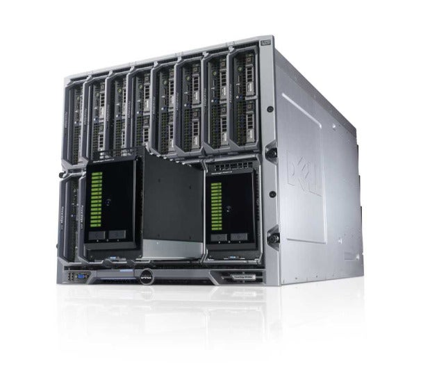 Dell EquaLogic Blade Arrays in a PowerEdge M1000e chassis.