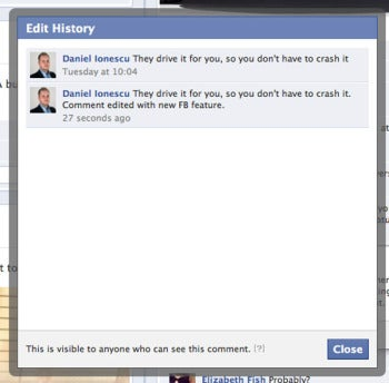 You can now edit your Facebook comments
