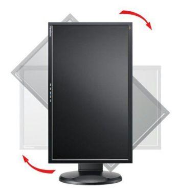 Pivoting monitor