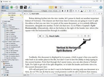 Scrivener for Windows toggle screenshot