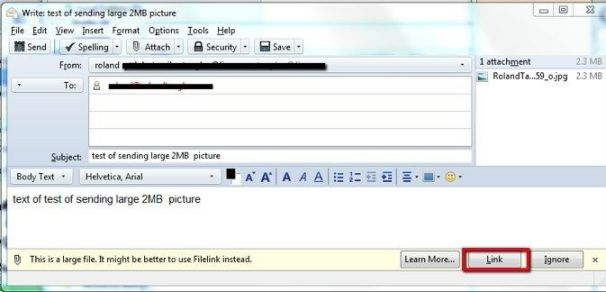 Send Large Files from Thunderbird with Filelink | PCWorld