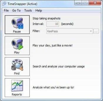 TimeSnapper screenshot