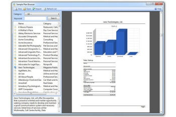 Business Plan Pro sample business plan screenshot