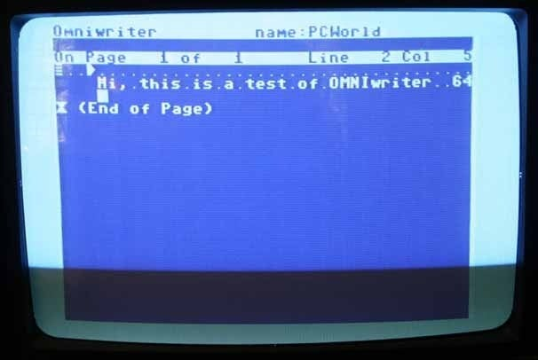 Word processing on the Commodore 64 with OmniWriter