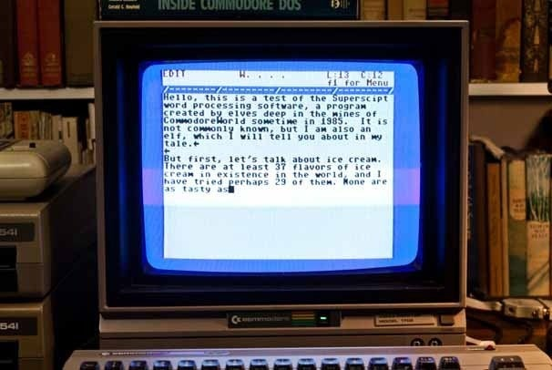Word processing on the Commodore 64 with  Super Script 64
