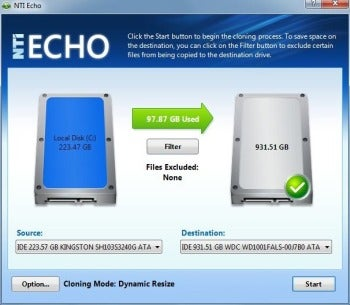 NTI Echo 3 screenshot