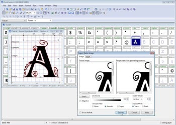 FontCreator Home Edition screenshot