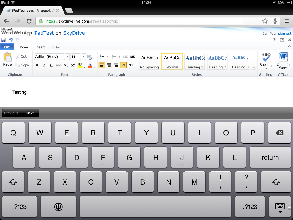 Edit Word documents with Apple's Pages