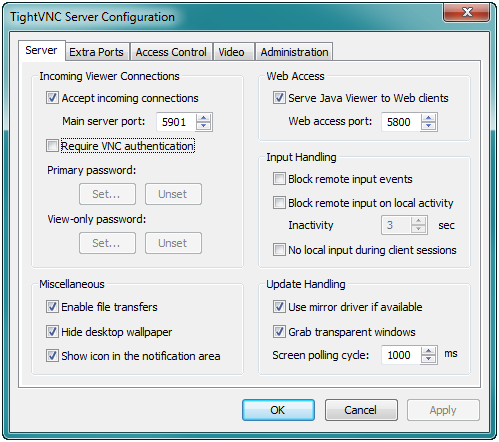 how to change screen resolution vnc server