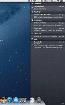 Notification Center in OS X Moutain Lion