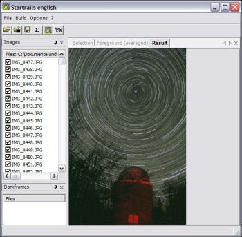 Startrails screenshot