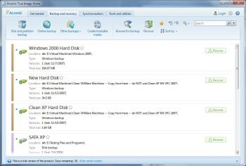 Acronis True Image Home 2012 screenshot