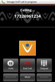 Vonage's over-the-top VoIP app.