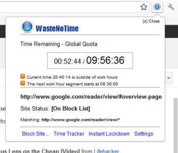 WasteNoTime lets you waste a little bit of time as you choose.