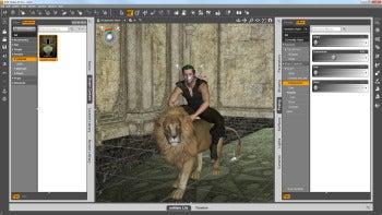 DAZ Studio facial controls screenshot