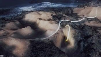 From Dust light trails screenshot