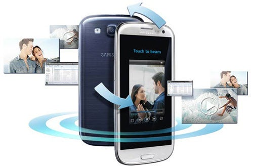 Samsung Galaxy SIII Smartphones and Android Beam